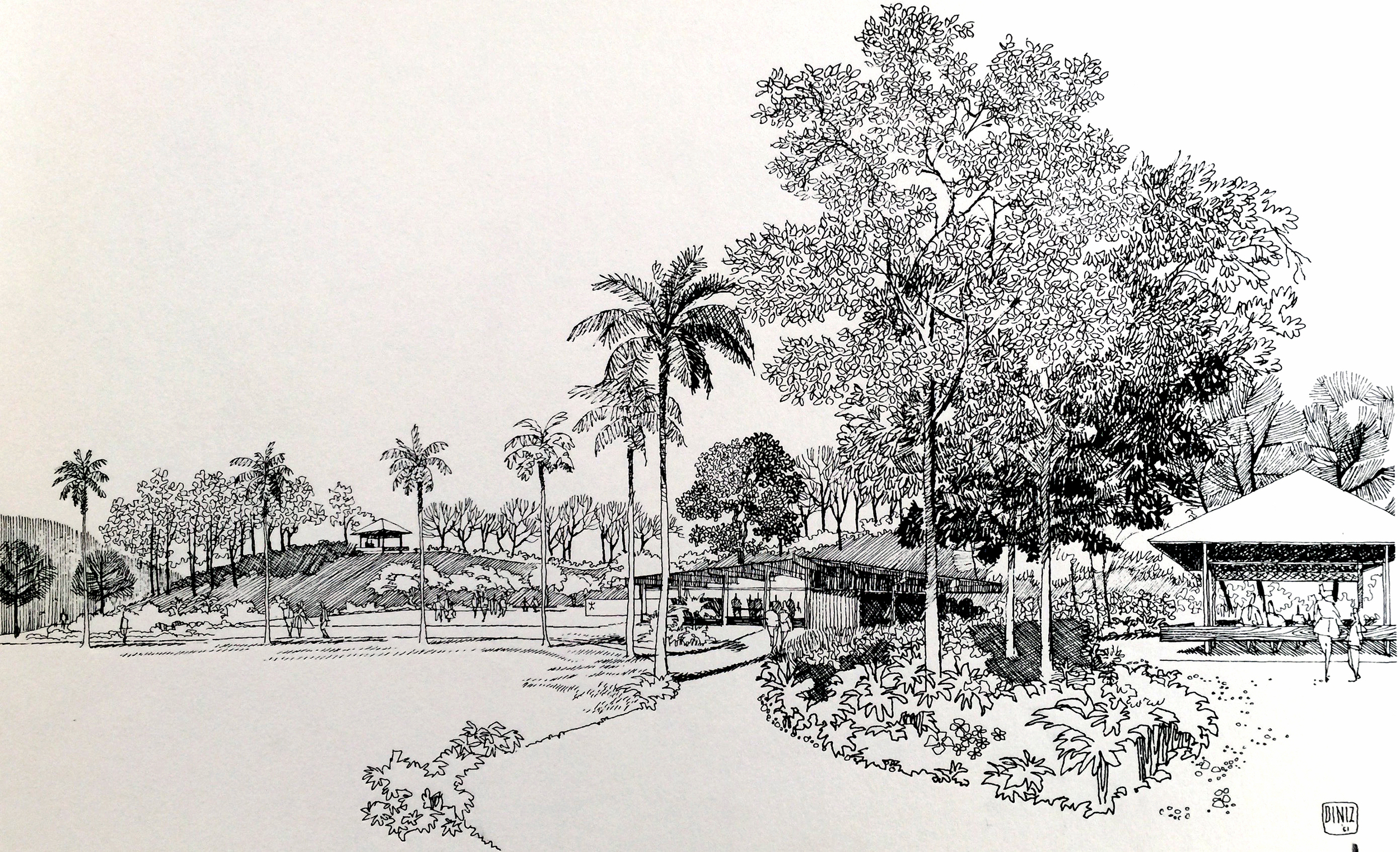 Smith and Williams, Architects and Engineers. Central Park, California City. 1962.Architecture and Design Collection, University Art Museum, UCSB.