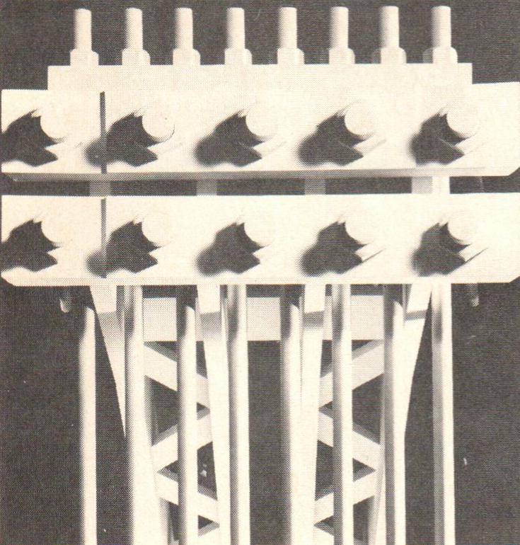 Wachsmann, Konrad. City Hall, California City, Model Detail. 1966. Konrad Wachsmann Archiv, Akademie der Kunst, Berlin.