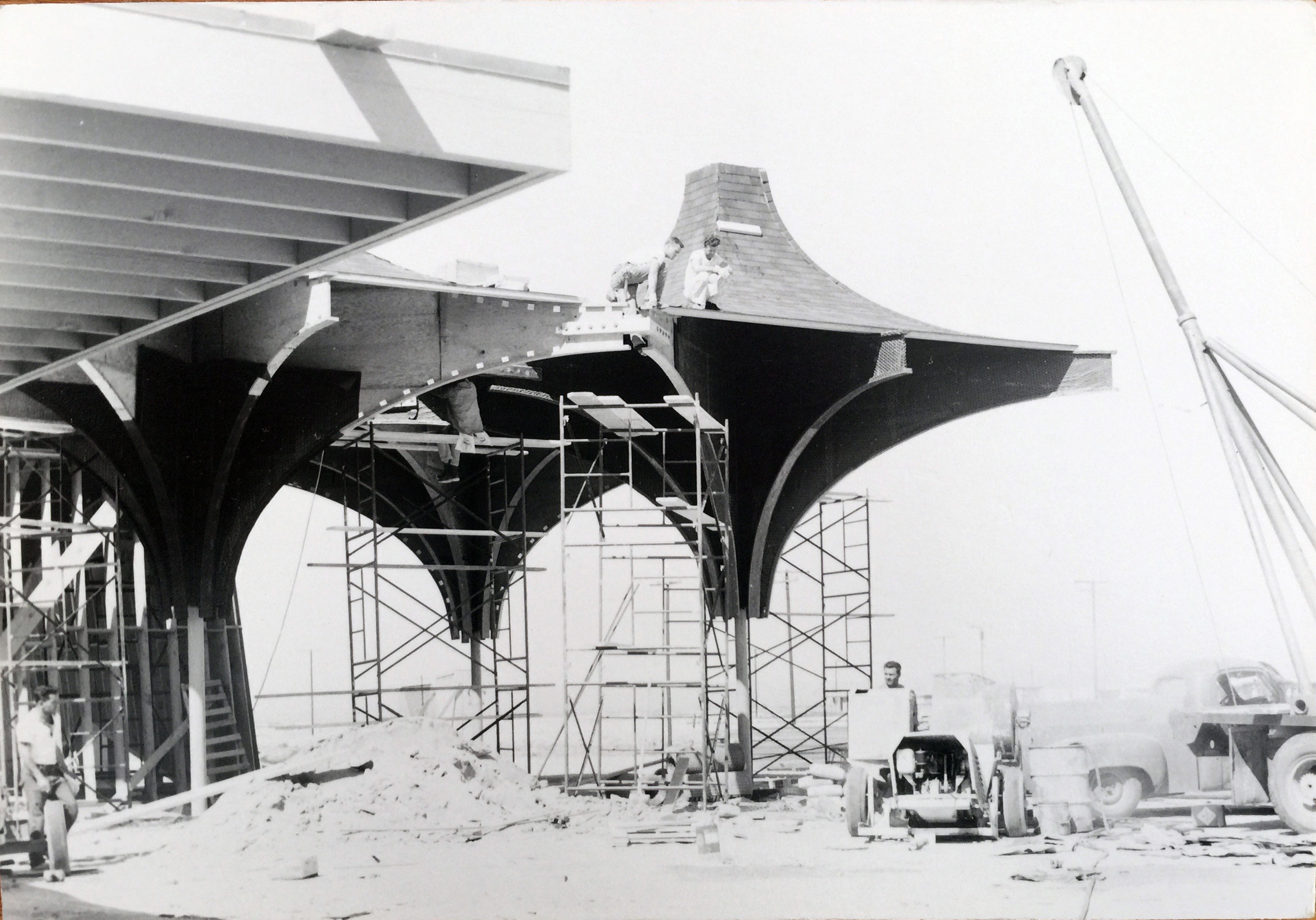 Smith and Williams, Architects and Engineers. Congregational Church, California City. 1962.Architecture and Design Collection, University Art Museum, UCSB.