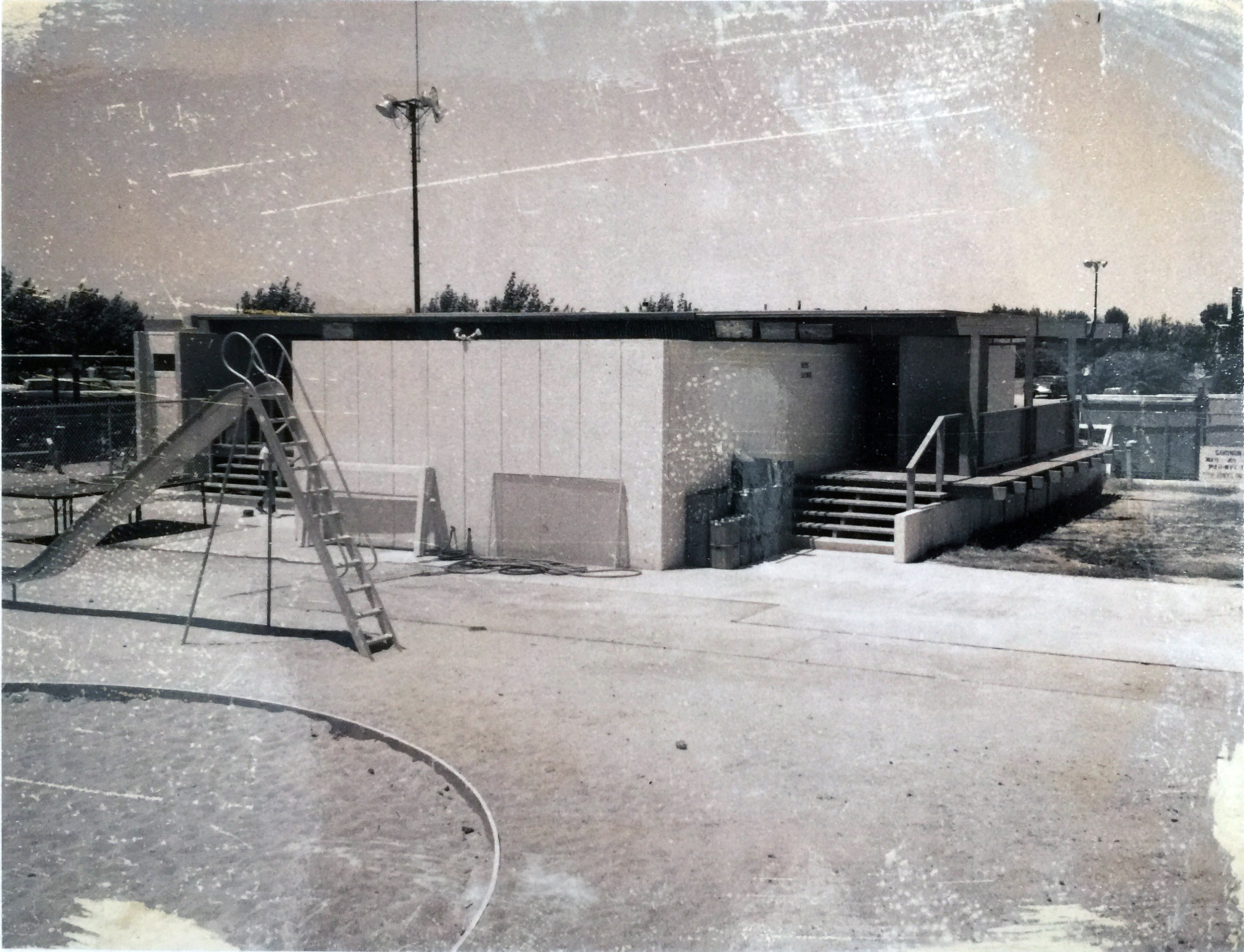 Smith and Williams, Architects and Engineers. Bath House, California City. 1962.Architecture and Design Collection, University Art Museum, UCSB.