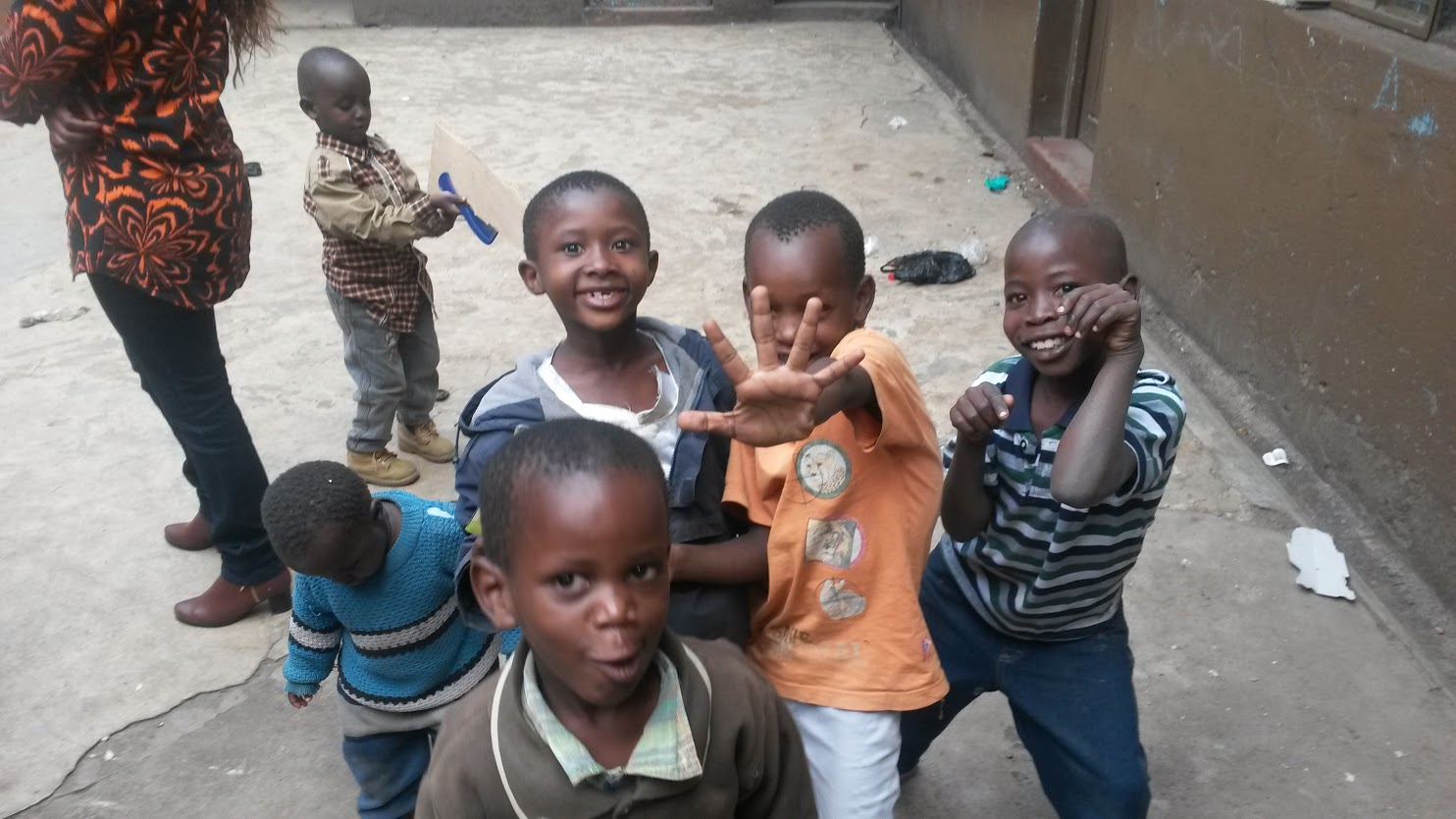 Some of the children who get their schooling at Mamma Africa.