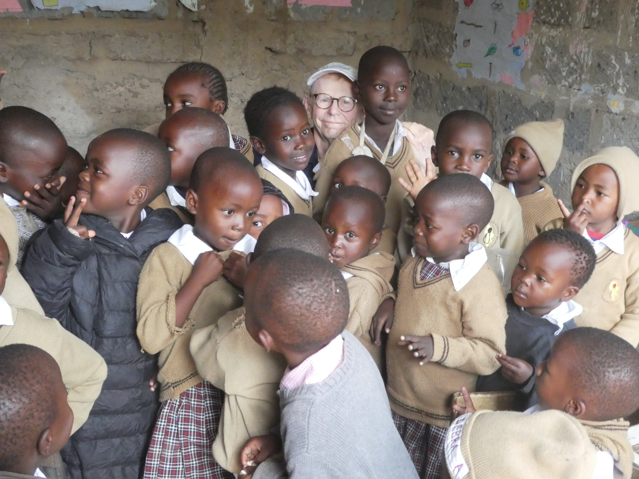 A group of students at Mamma Africa in Mathare area of Nairobi.