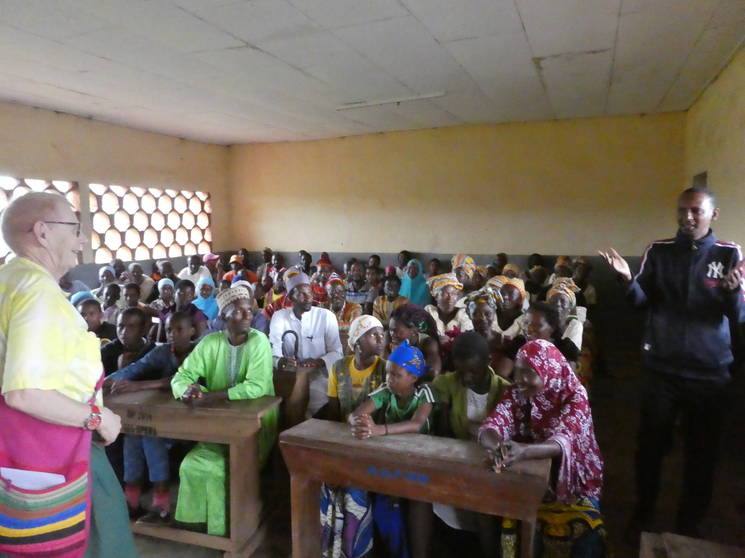 Community meeting in the Cameroon village of Upkwa