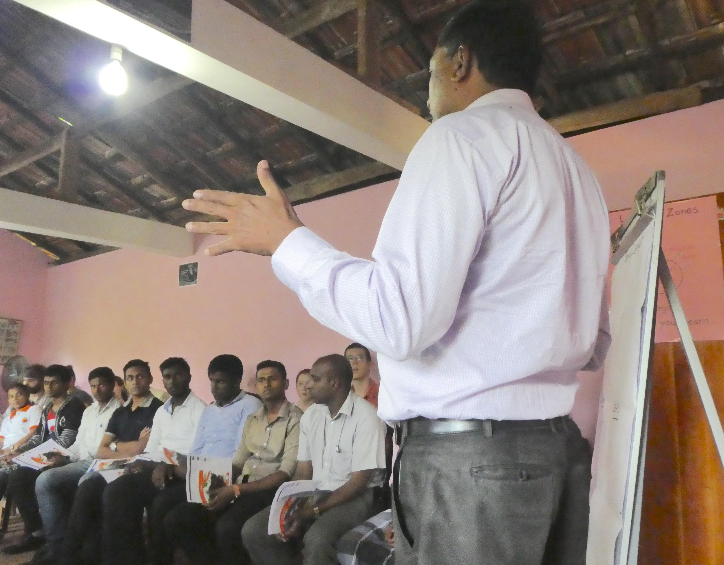 Community meeting in Sri Lanka.