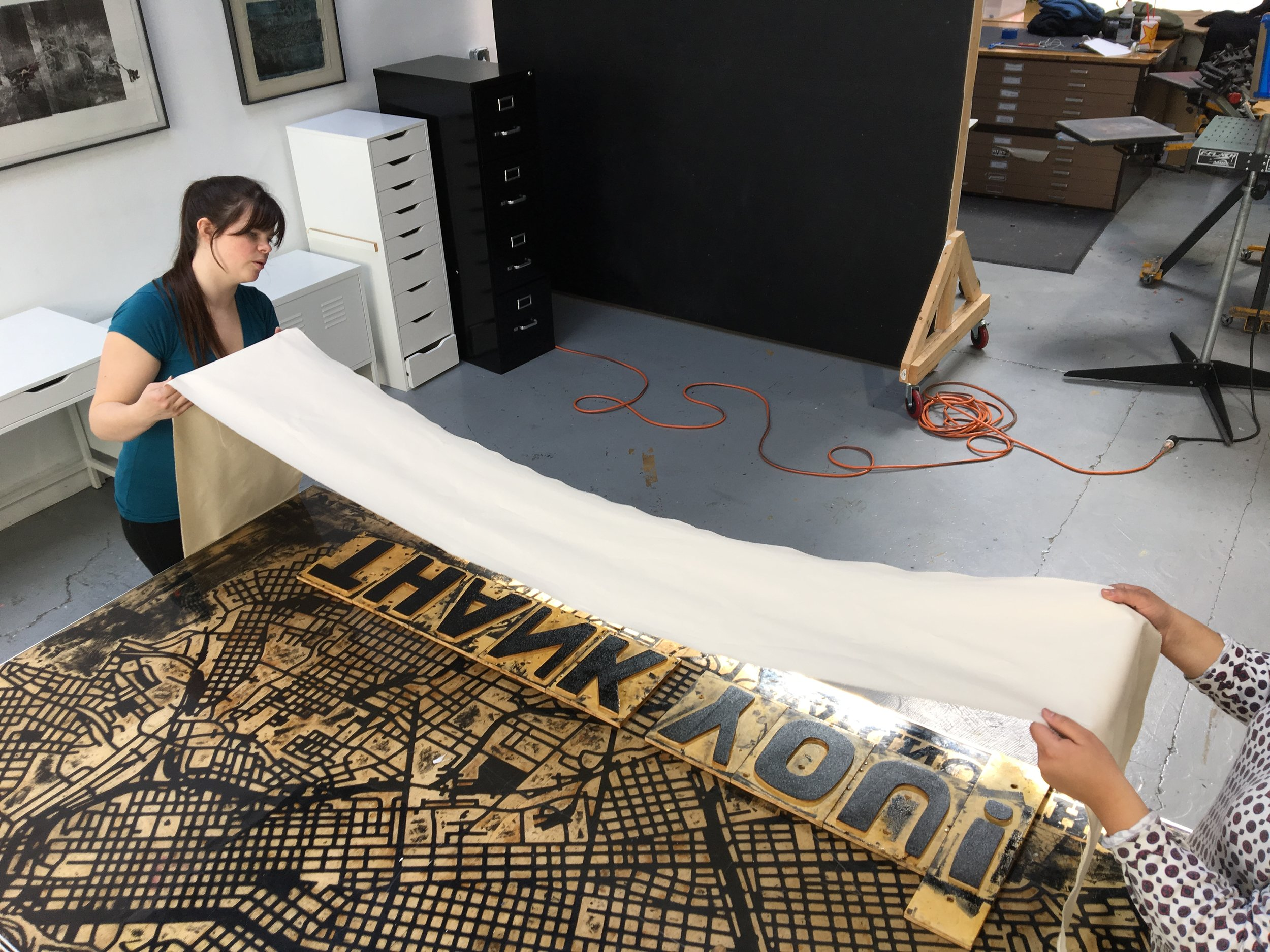 RELIF PRINTING GIANT WOOD TYPE BANNERS!