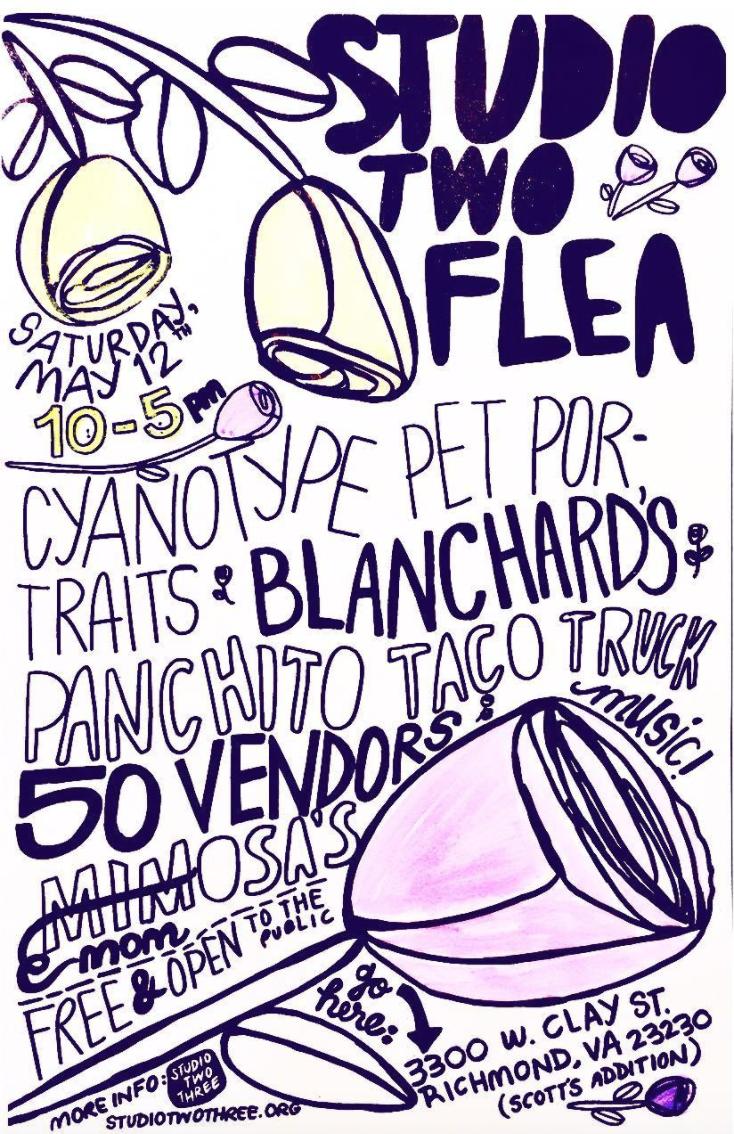vendor market | art | vintage | flea market | Scott's Addition | Richmond Virginia | Studio Two Three | Studio Two Flea | nonprofit | art | studio