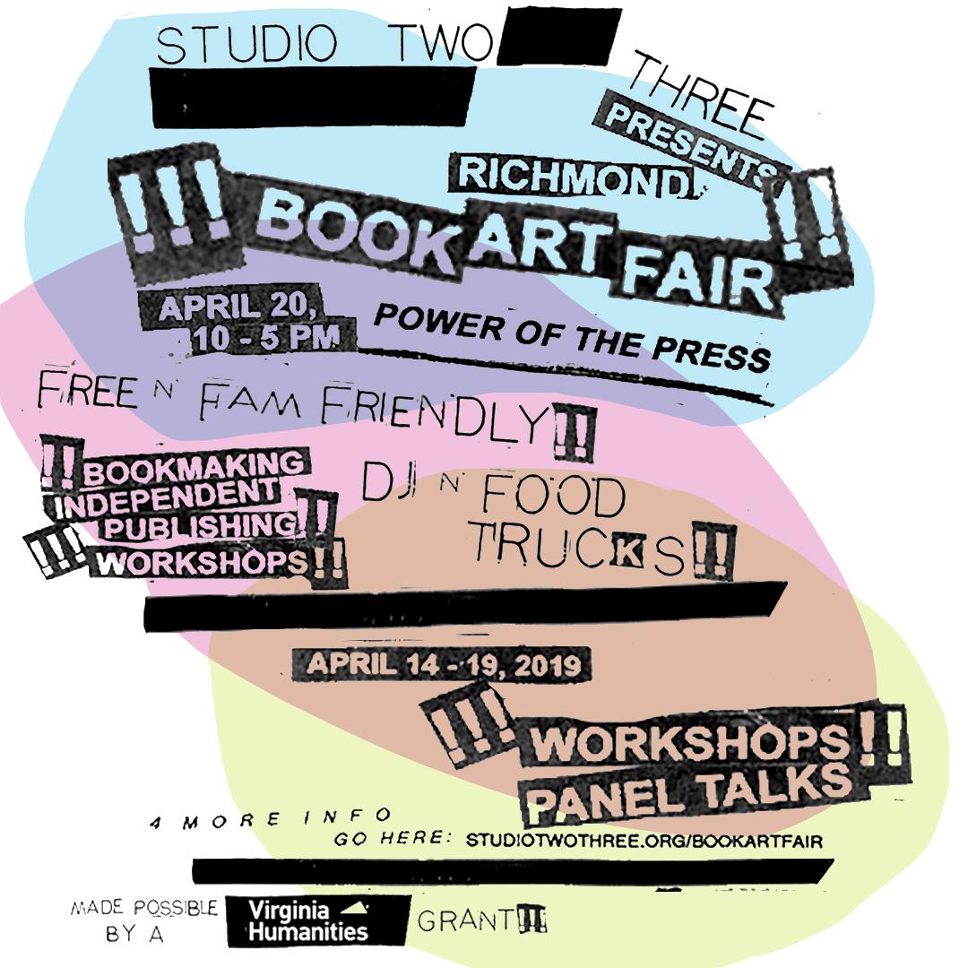 Studio Two Three | Richmond Book Art Fair | RVA | Festival