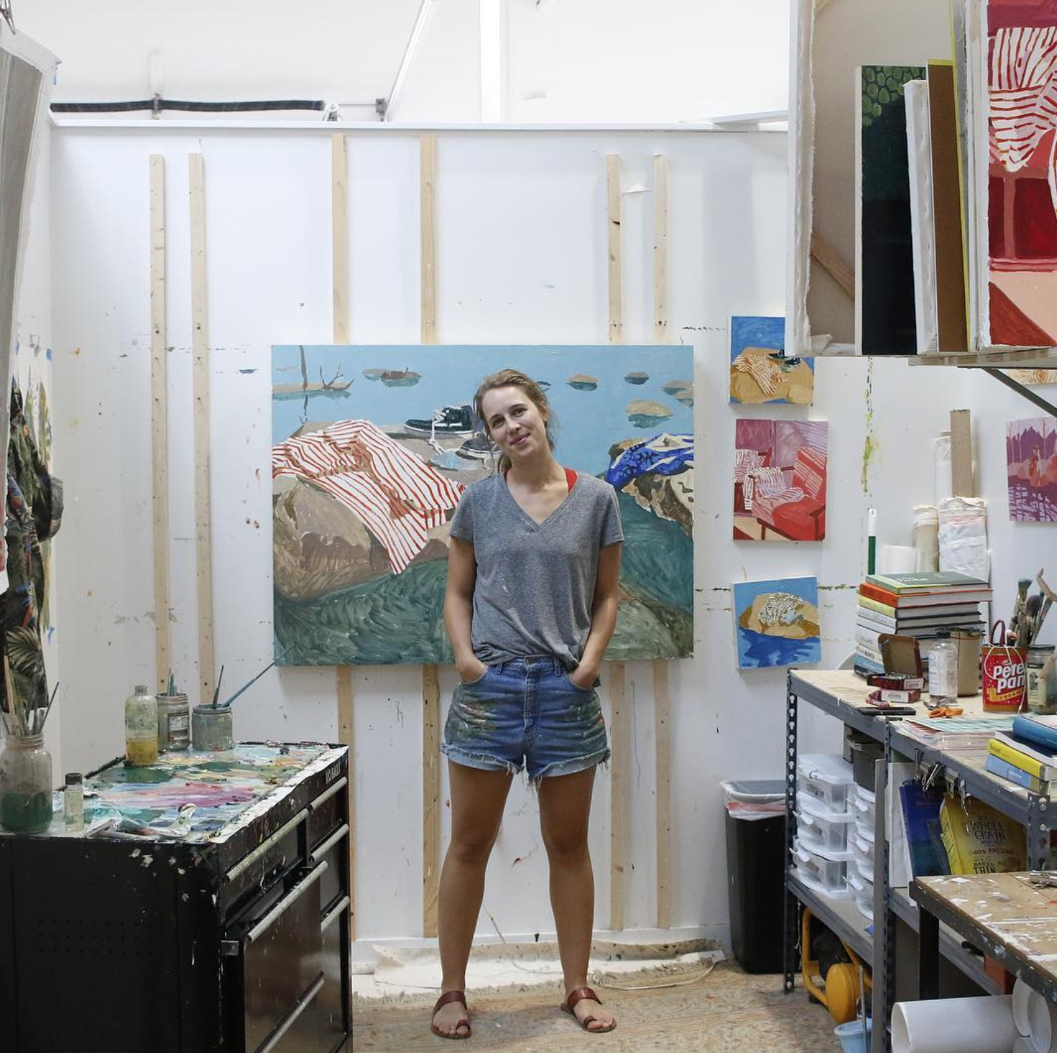 ARTIST SOPHIE TREPPENDAHL IN HER PRIVATE STUDIO