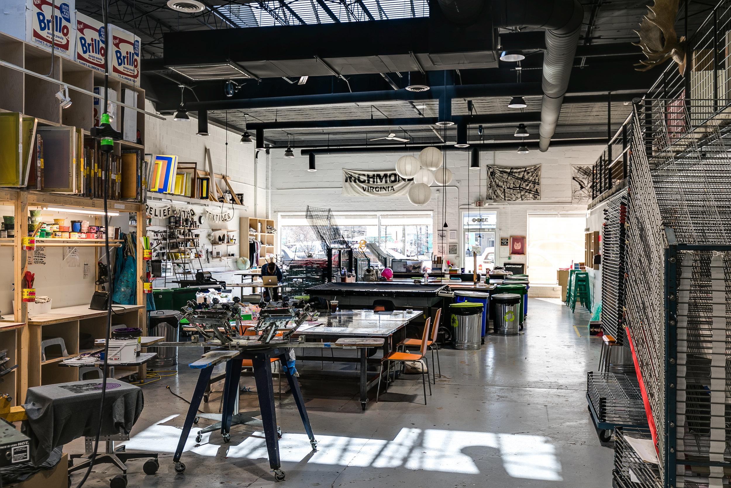 Studio Two Three | art studios | print shop | darkroom | Richmond Virginia