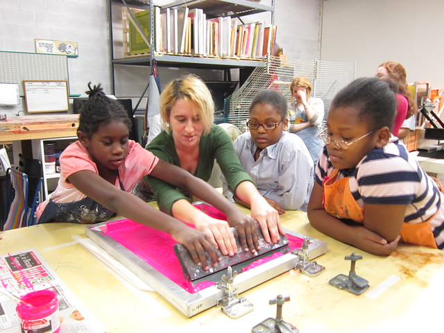 Printing with SoHo Girls & Mentors