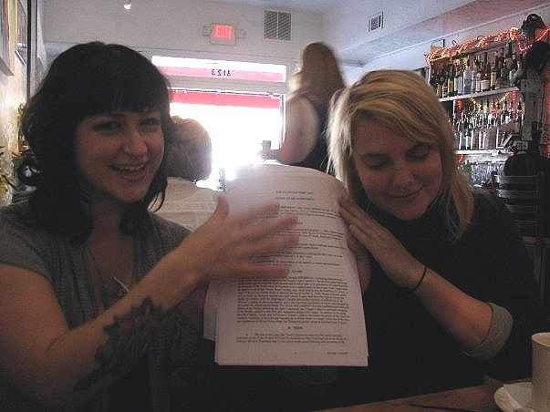 Signing the lease for our Plant Zero studio