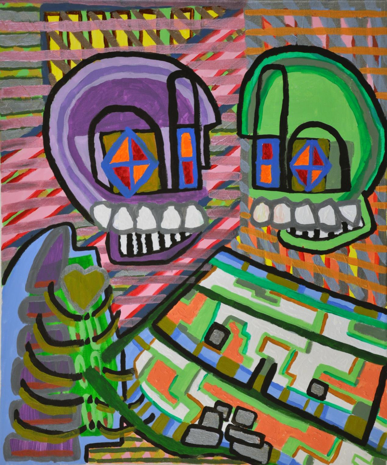 "Robot Teeth Brusher 20"" x 24"""