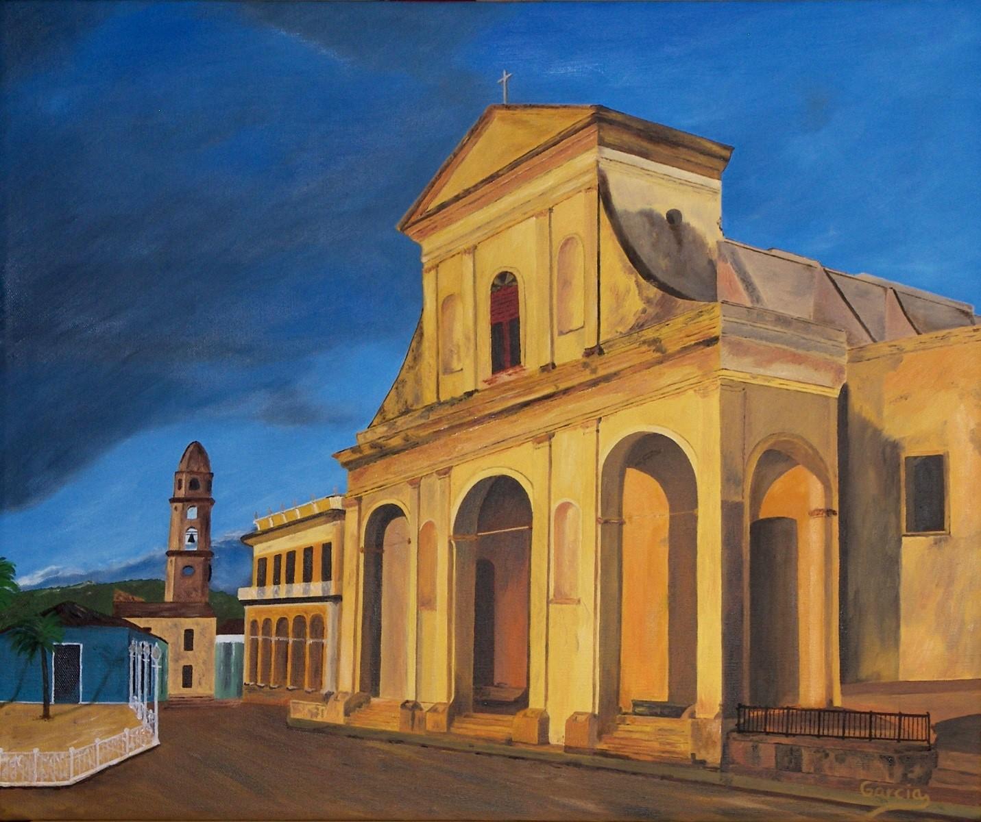 """Cuba – Trinidad – Iglesia de la Santisima 20"""" x 24"""""""