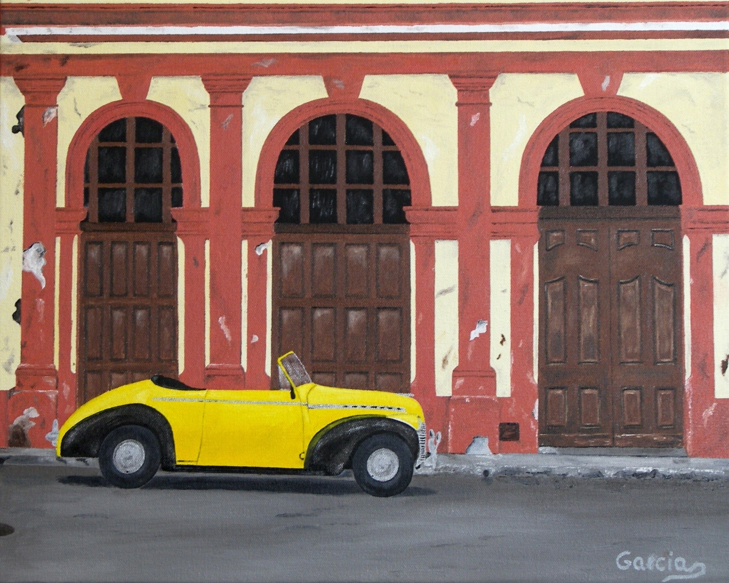 """Vintage Cuba II – Habana Vieja 16"""" x 20"""""""