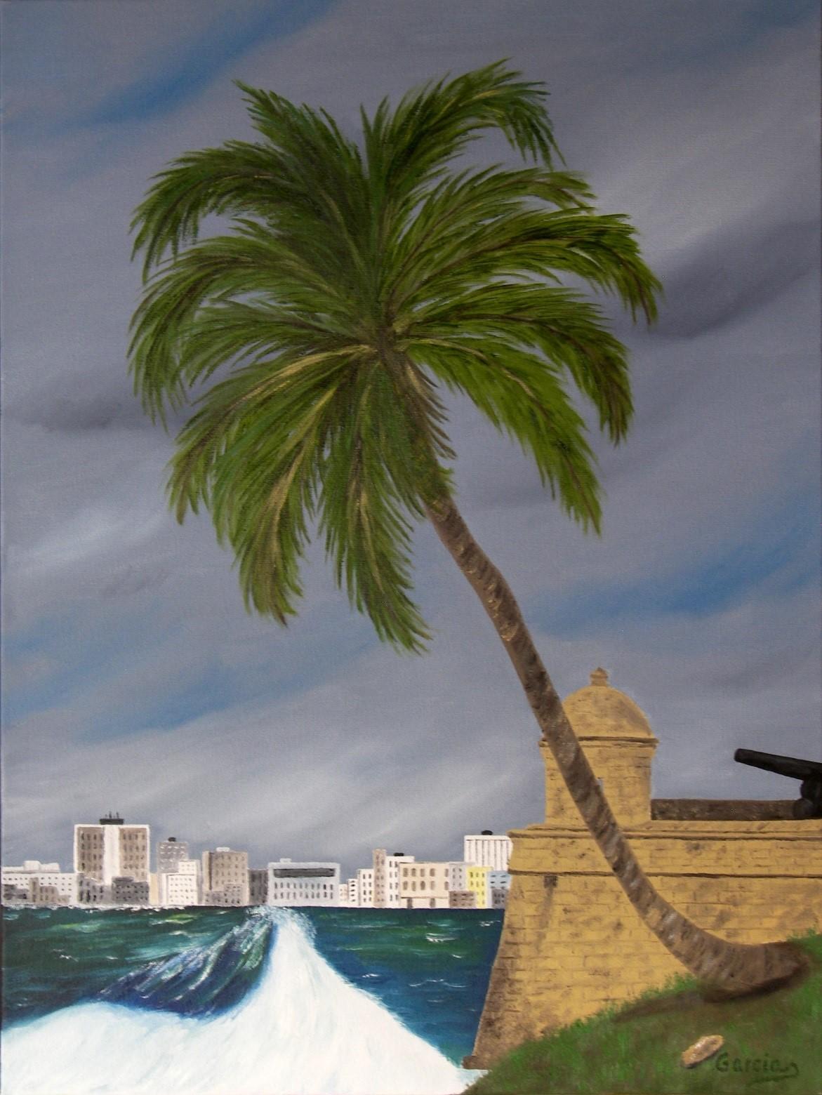 """Cuba – Habana Harbor – El Morro Fortress 16"""" x 24"""""""