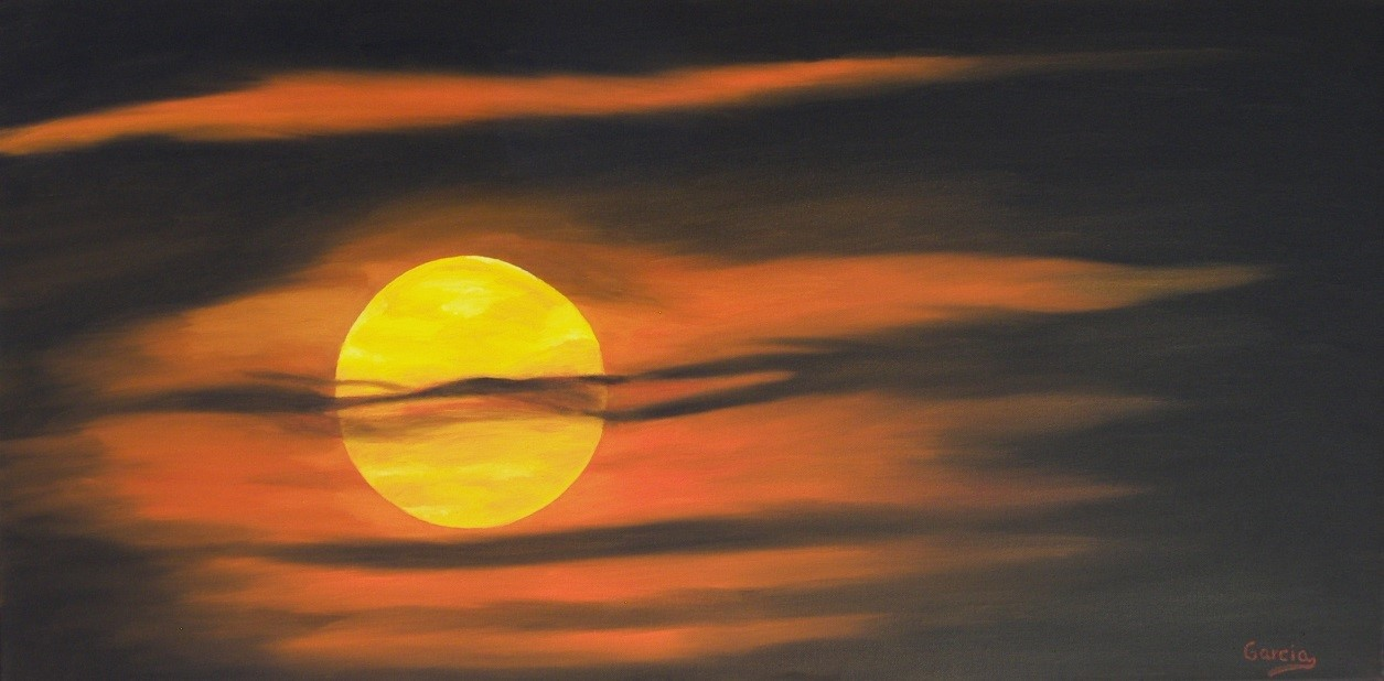 """Sultry Sunrise 18"""" x 36"""""""
