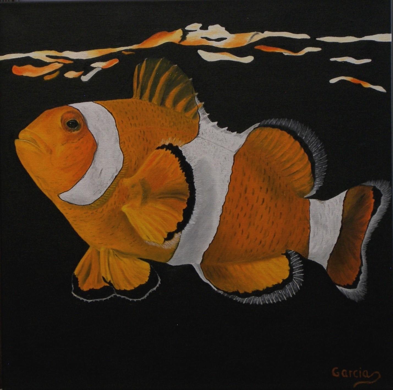"""Clown Fish 20"""" x 20"""""""