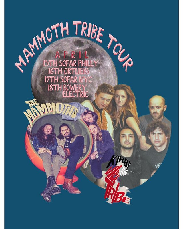 MAMMOTH TRIBE // \\ Today starts a fun little run with Austin buds @the_mammoths. Check us out in Philly and NYC // Monday: @sofarphilly  Tuesday: @ortliebsphilly  Wednesday: @sofarnyc  Thursday: @theboweryelectric