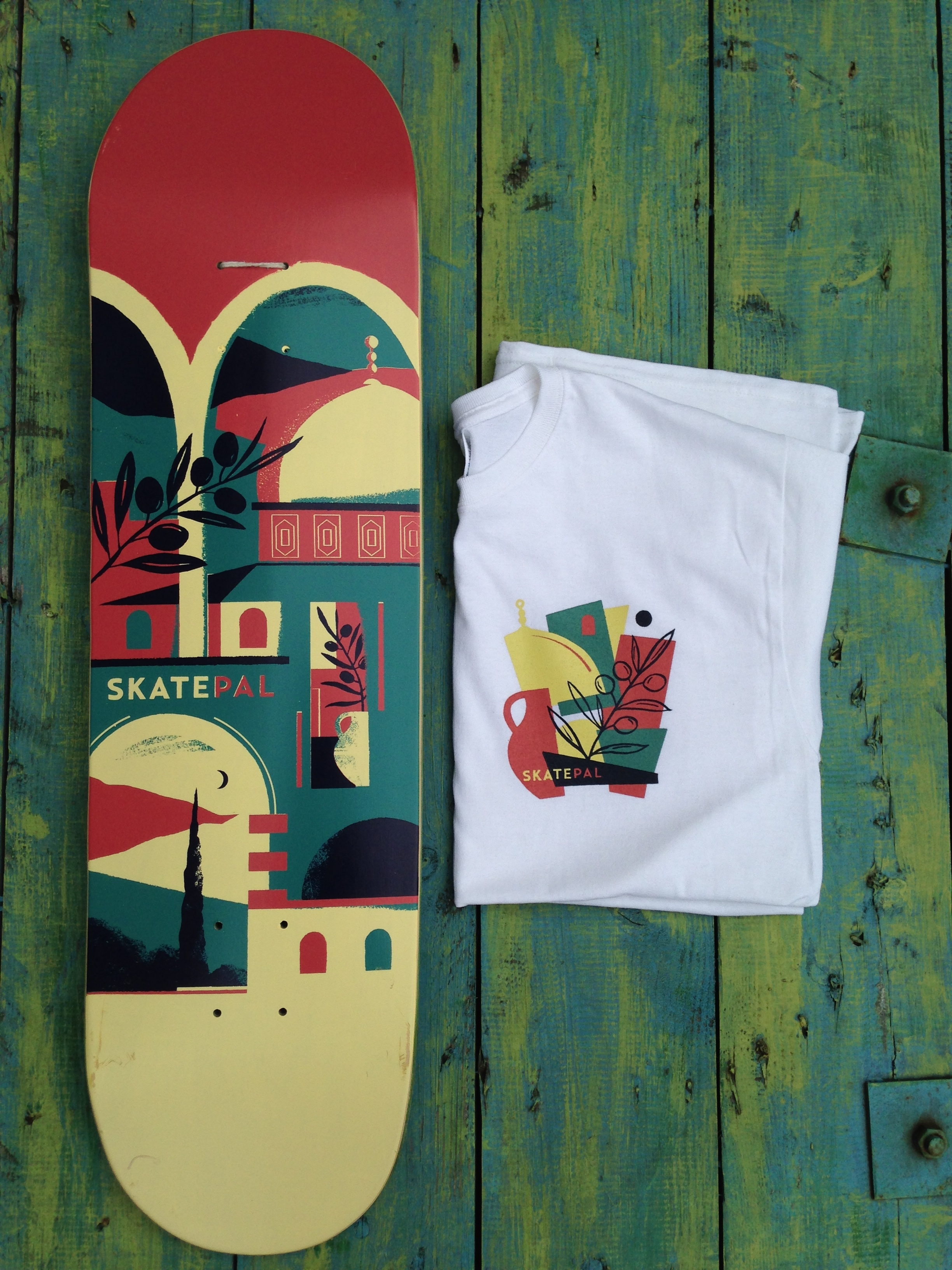 Dan's SkatePal deck and t-shirt design.