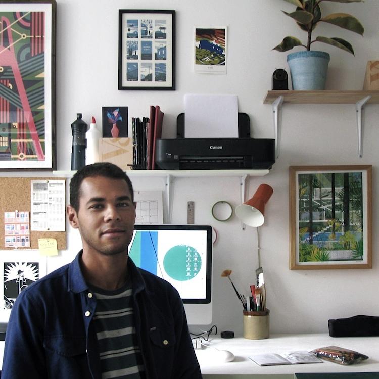 Dan in his studio