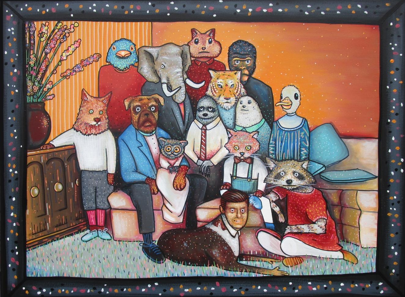 ANIMAL FAMILY PORTRAIT