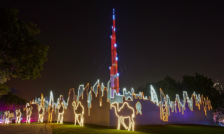 Glowing Replica of Burj Khalifa