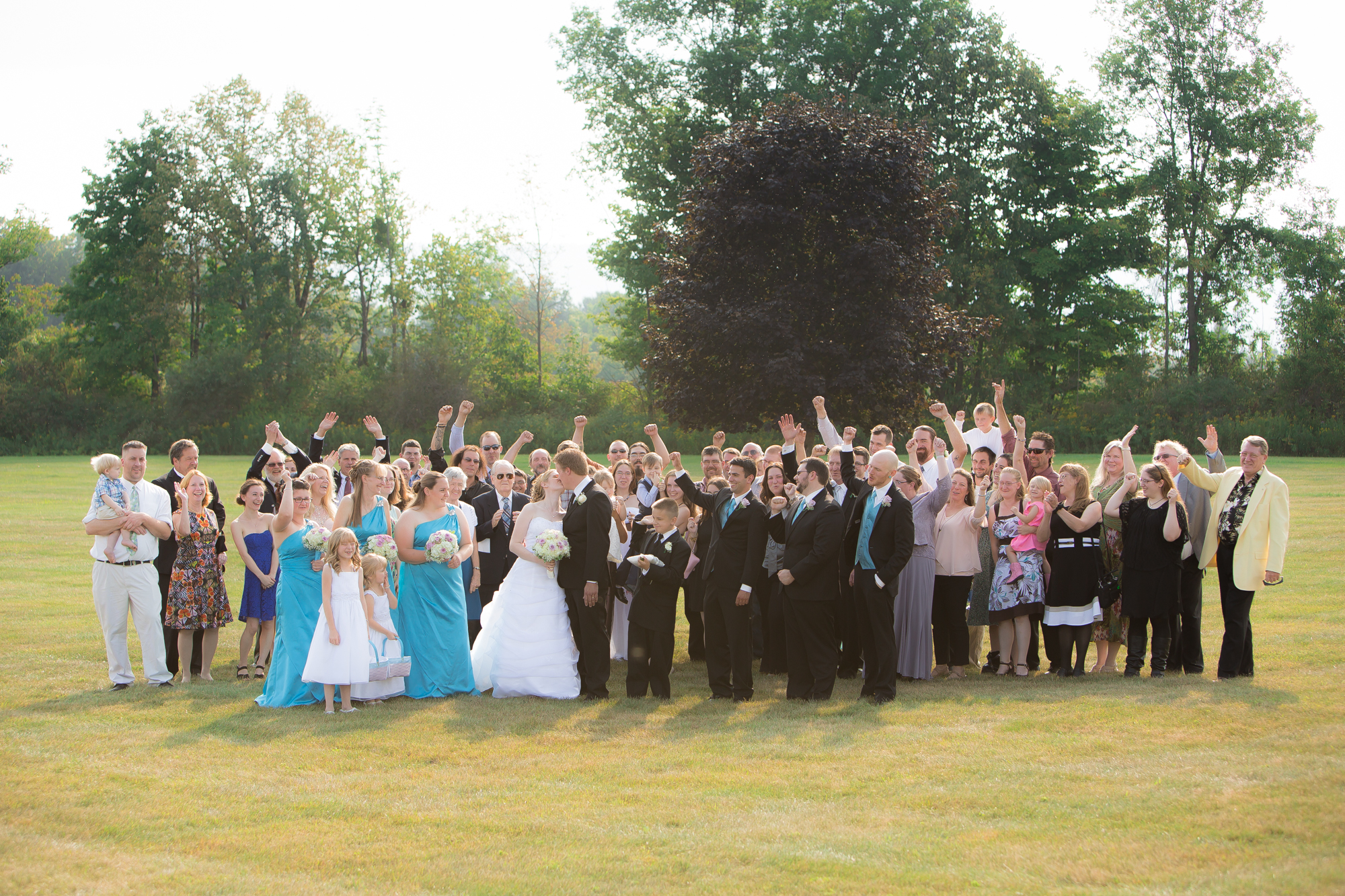 Wedding guests at Celebrations Banquet Facility in Ithaca, NY