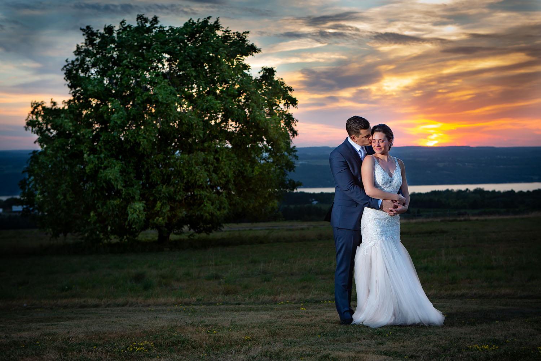 Seneca Lake Sunset Wedding - Logan Ridge in Hector, NY  Photographer - Joe Hy