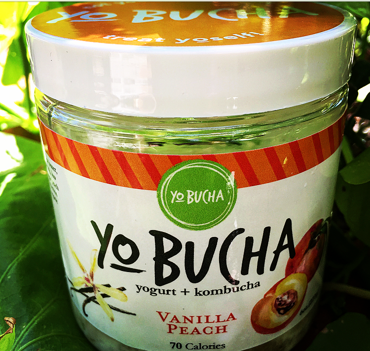 Vanilla PeachYo-Bucha - Sweet peaches and smooth vanilla come together to create a probiotic snack that is both comforting and refreshing. Try it mixed nuts as an after-workout snack or frozen in an ice-cube tray as a summer-treat for kids!