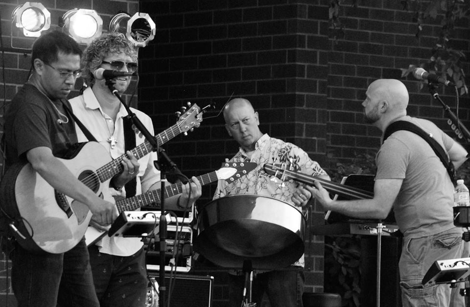 L to R: Ian, Johnny, Mark, and Tom. The Beach Bum Band. Thank you Karl Smith for the photo.