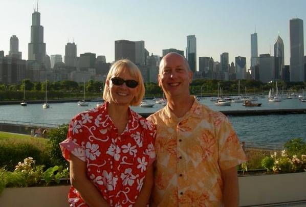 Jan and Mark, from a performance at the Shedd Aquarium, Chicago.