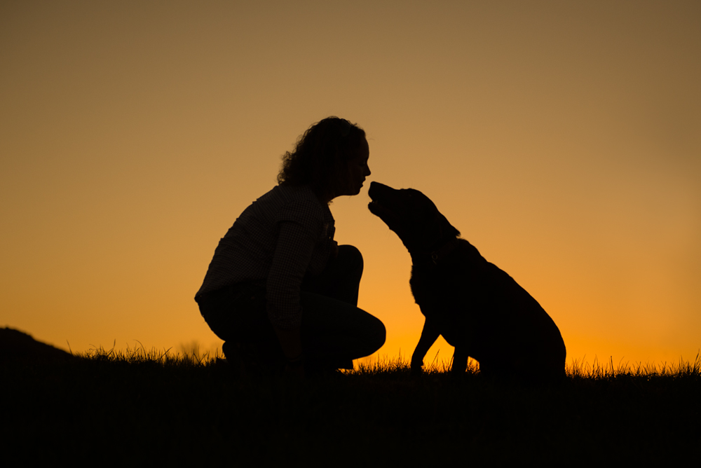 girl-dog-silhouette-state-college