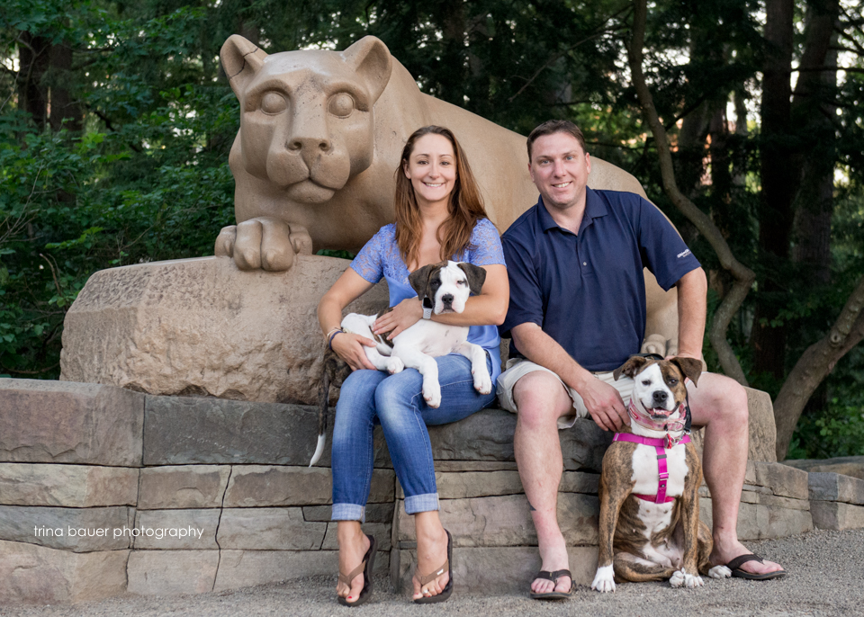 Nittany.Lion.shrine.family.photo.dogs