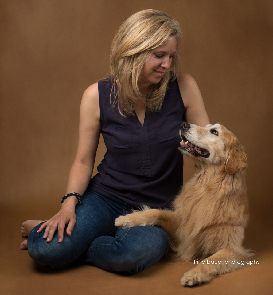 Golden Retriever and owner