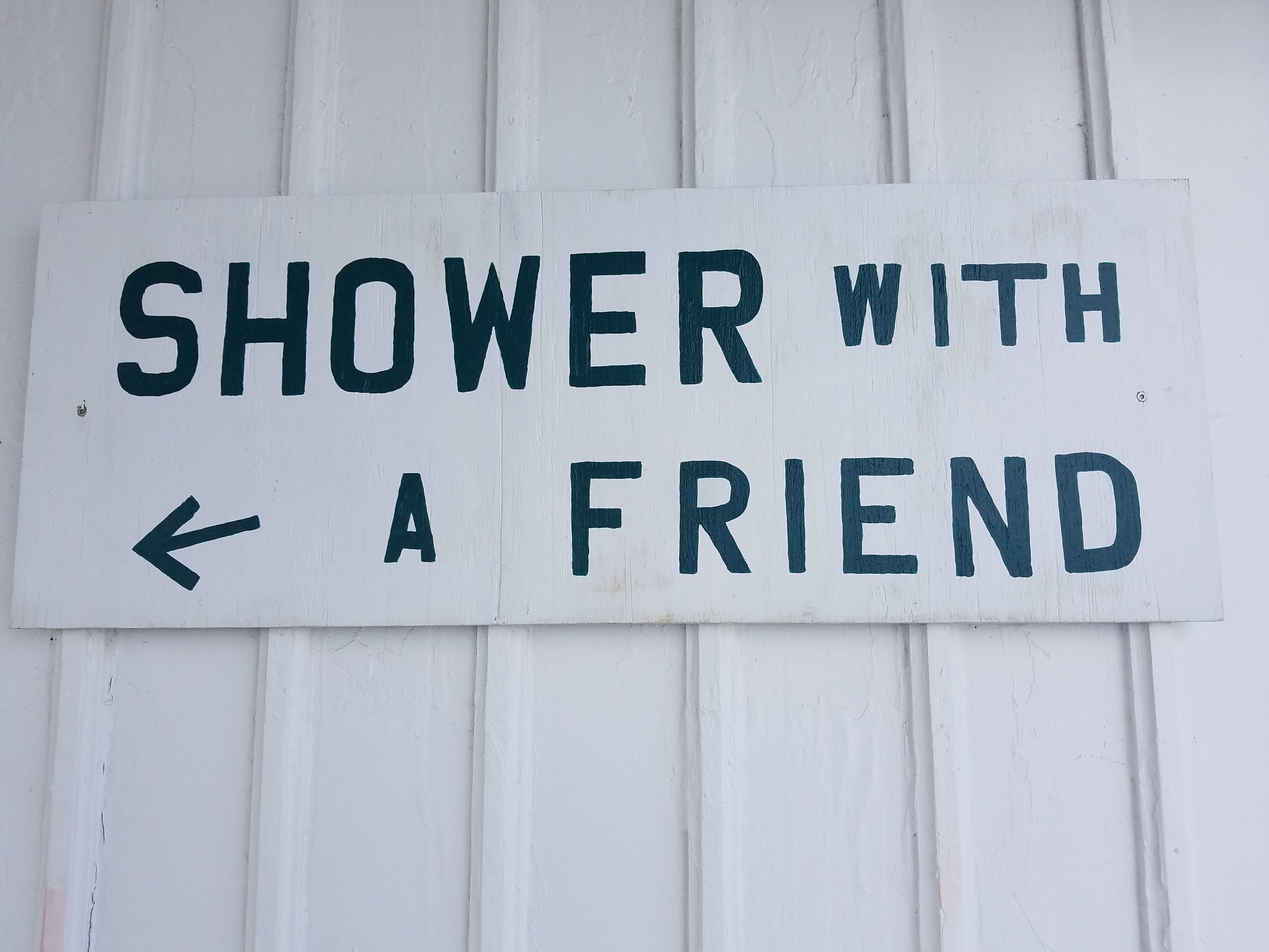 Shower with a friend - Cabbage Key