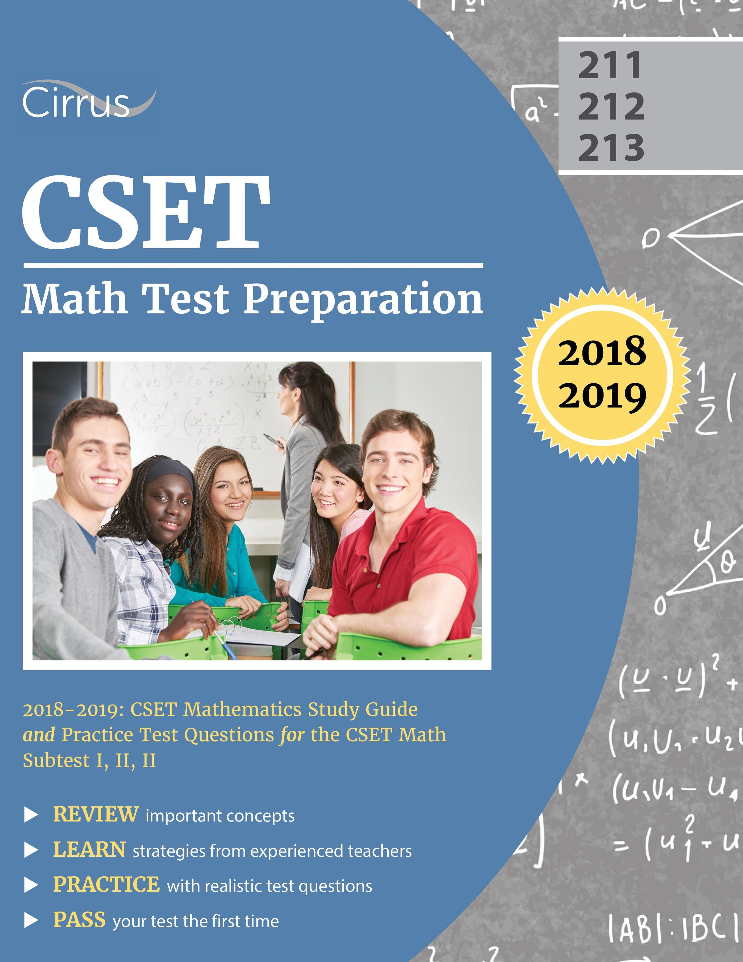 CSET Math Test Preparation (211, 212, 213)  Study Guide 2018 – 2019