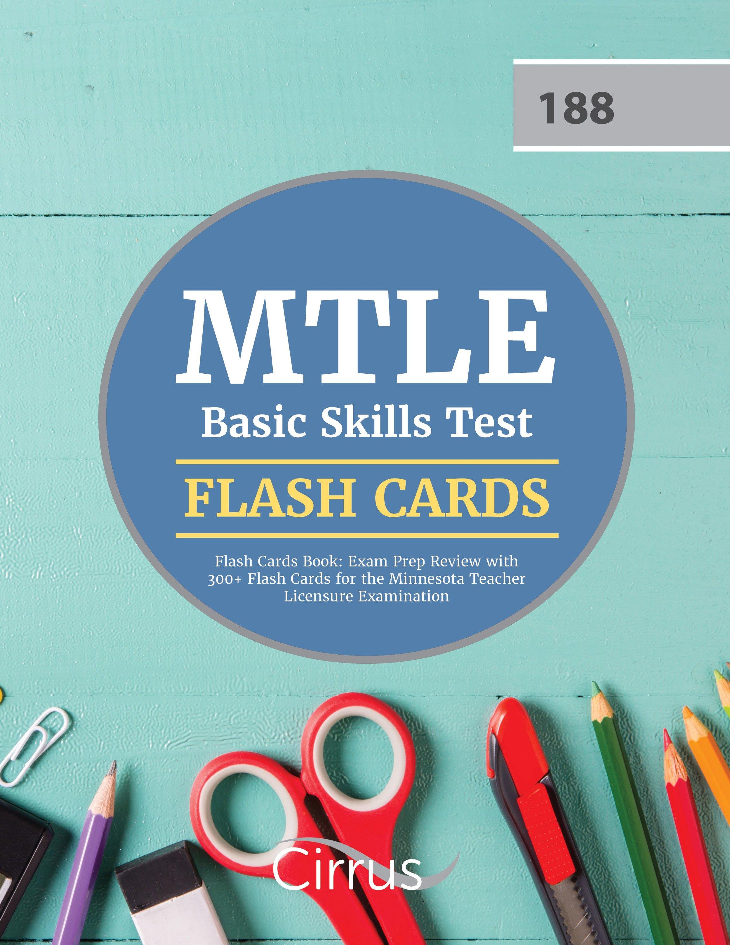 MTLE Basic Skills (188) Flash Cards Book