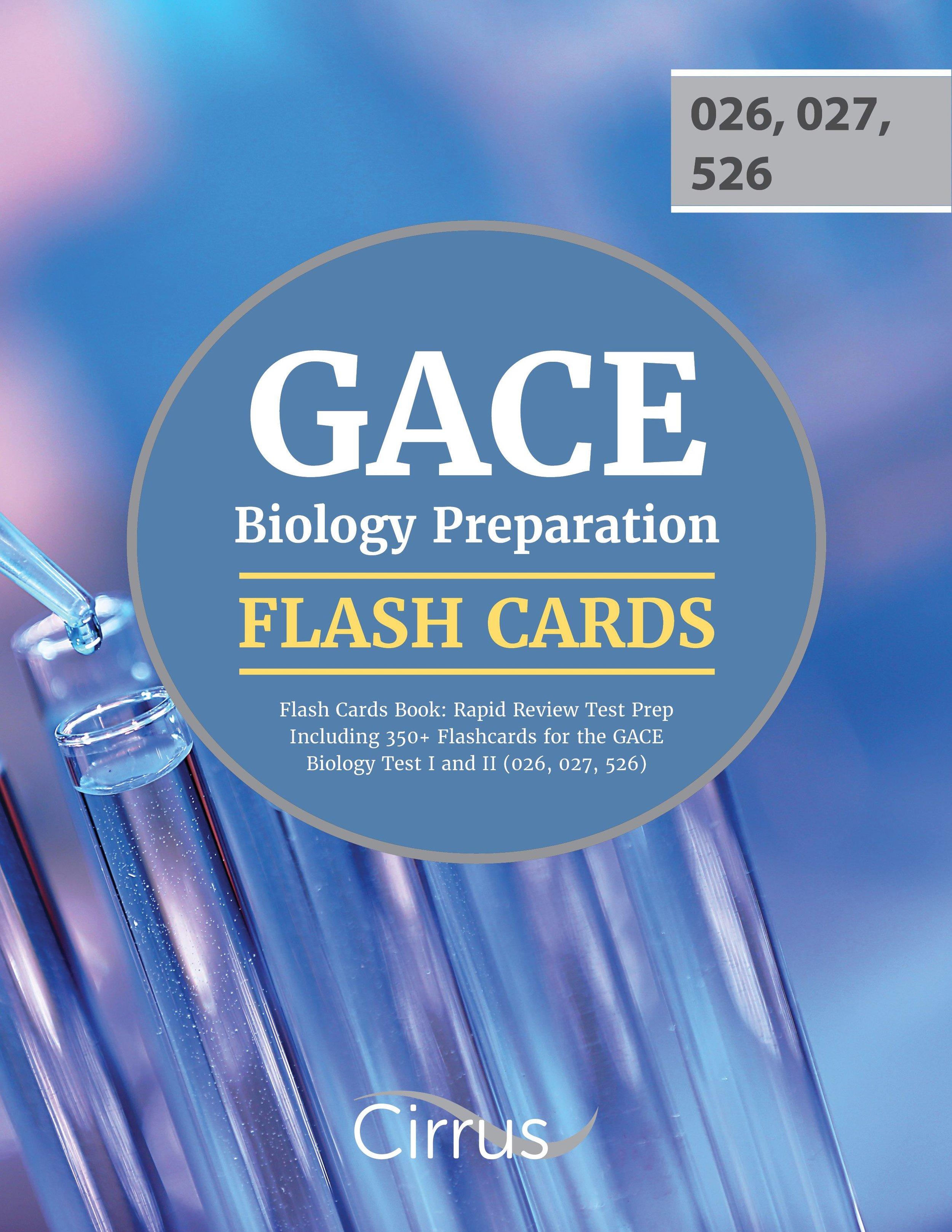 GACE Biology Preparation Flash Cards Book Rapid Review Test Prep 026, 027, 526
