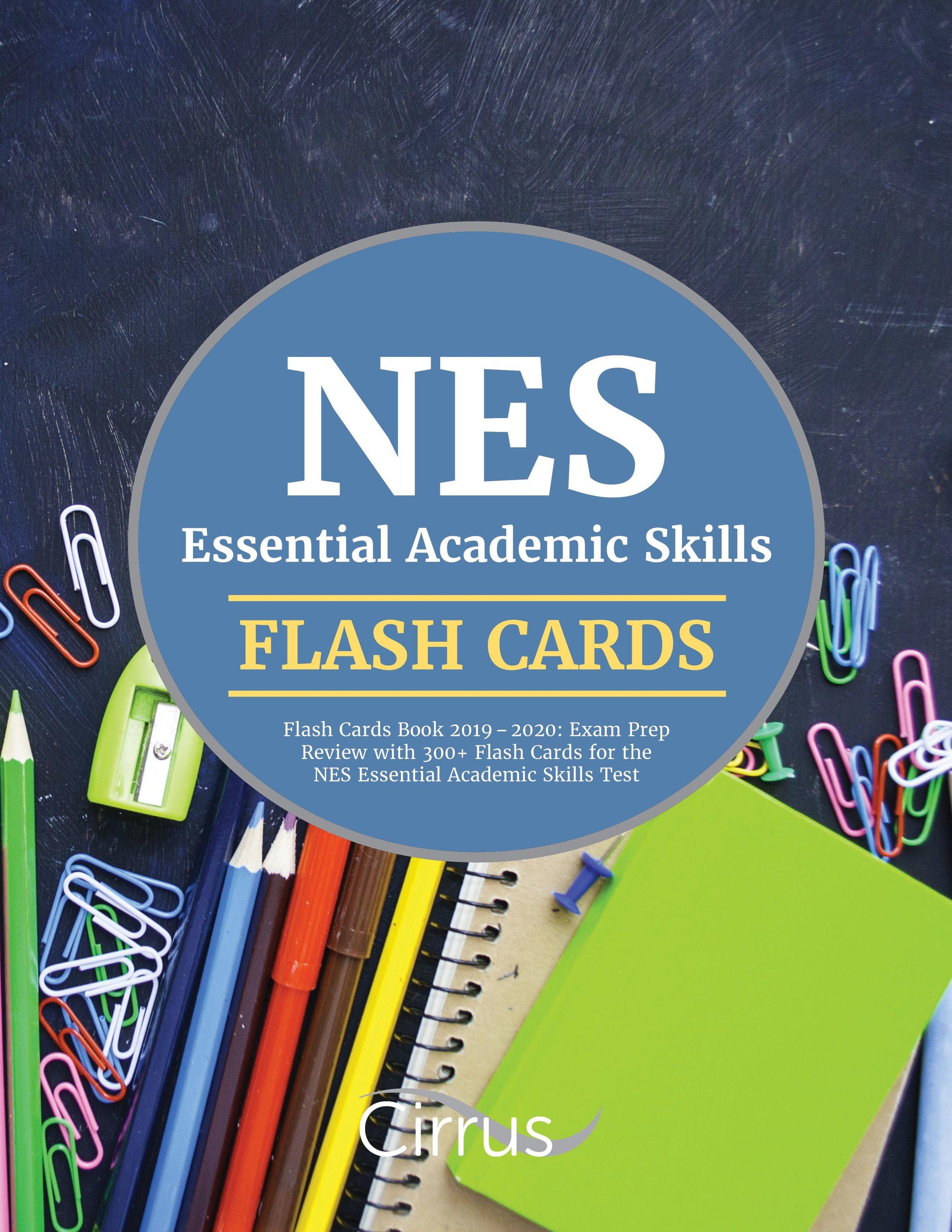 NES Essential Academic Skills Flash Cards Book 2019 – 2020