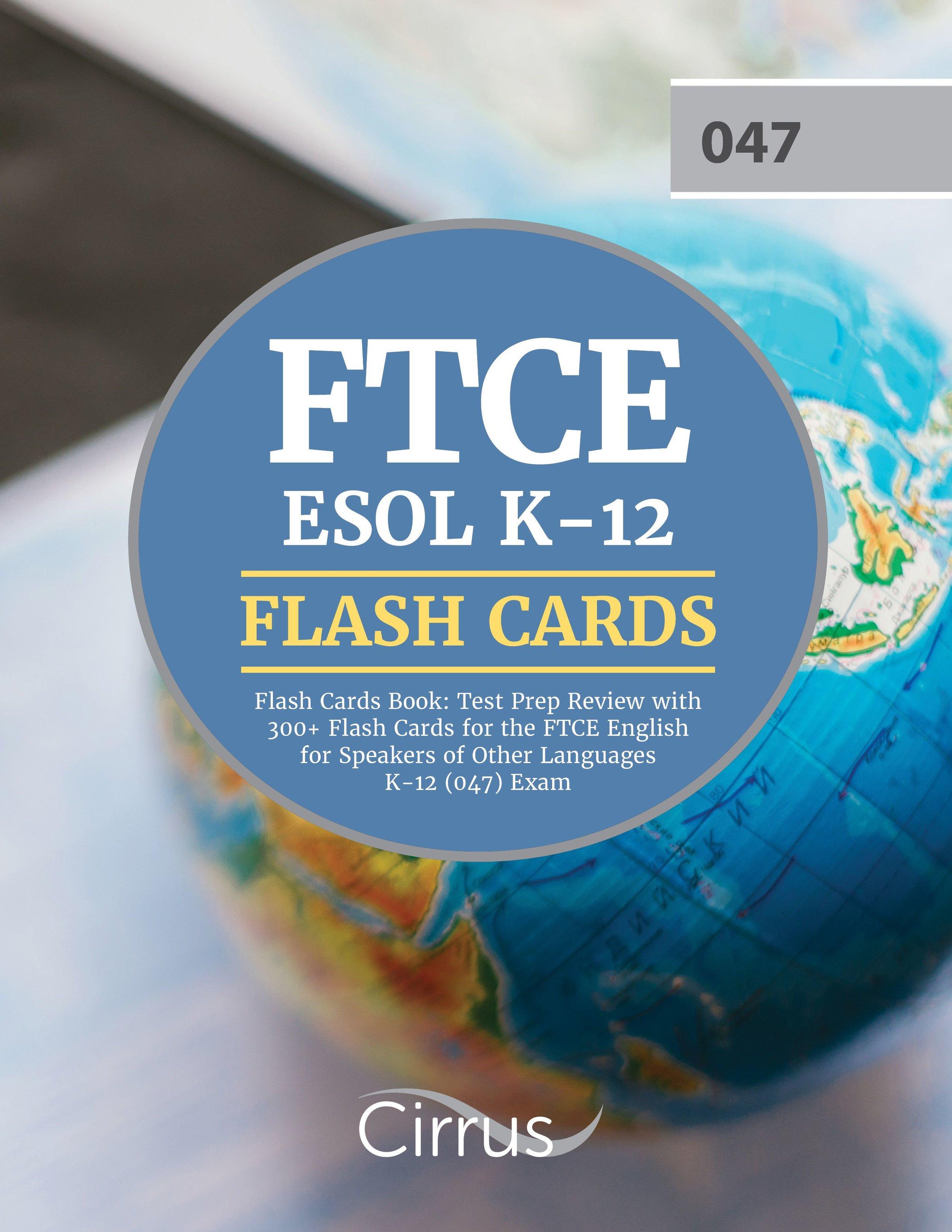 FTCE ESOL K    –    12 Flash Cards Book