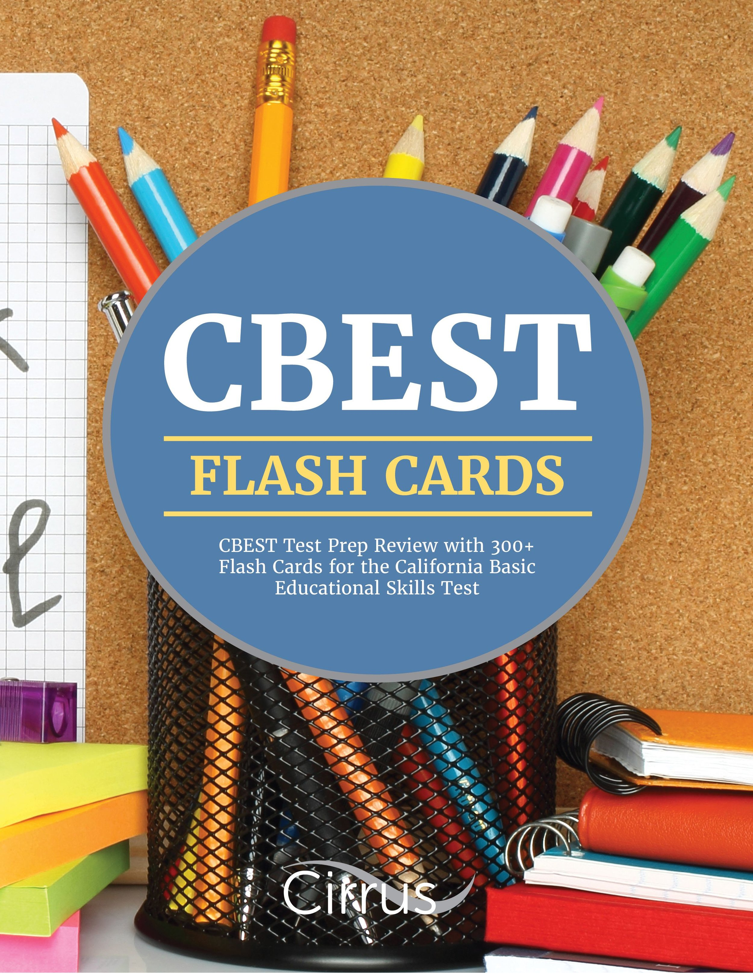CBEST Review Book with 300+ Flash Cards