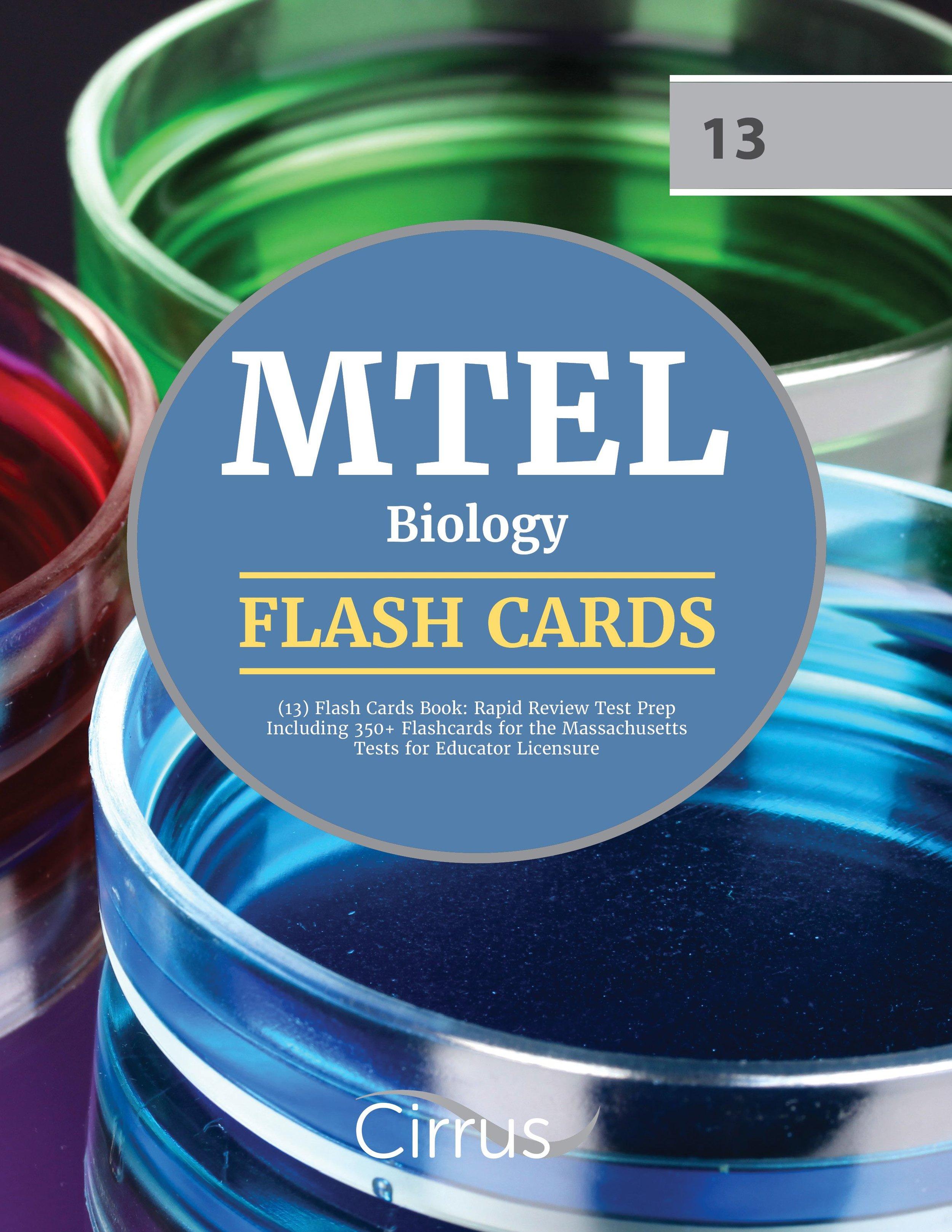 MTEL Biology (13) Flash Cards Book