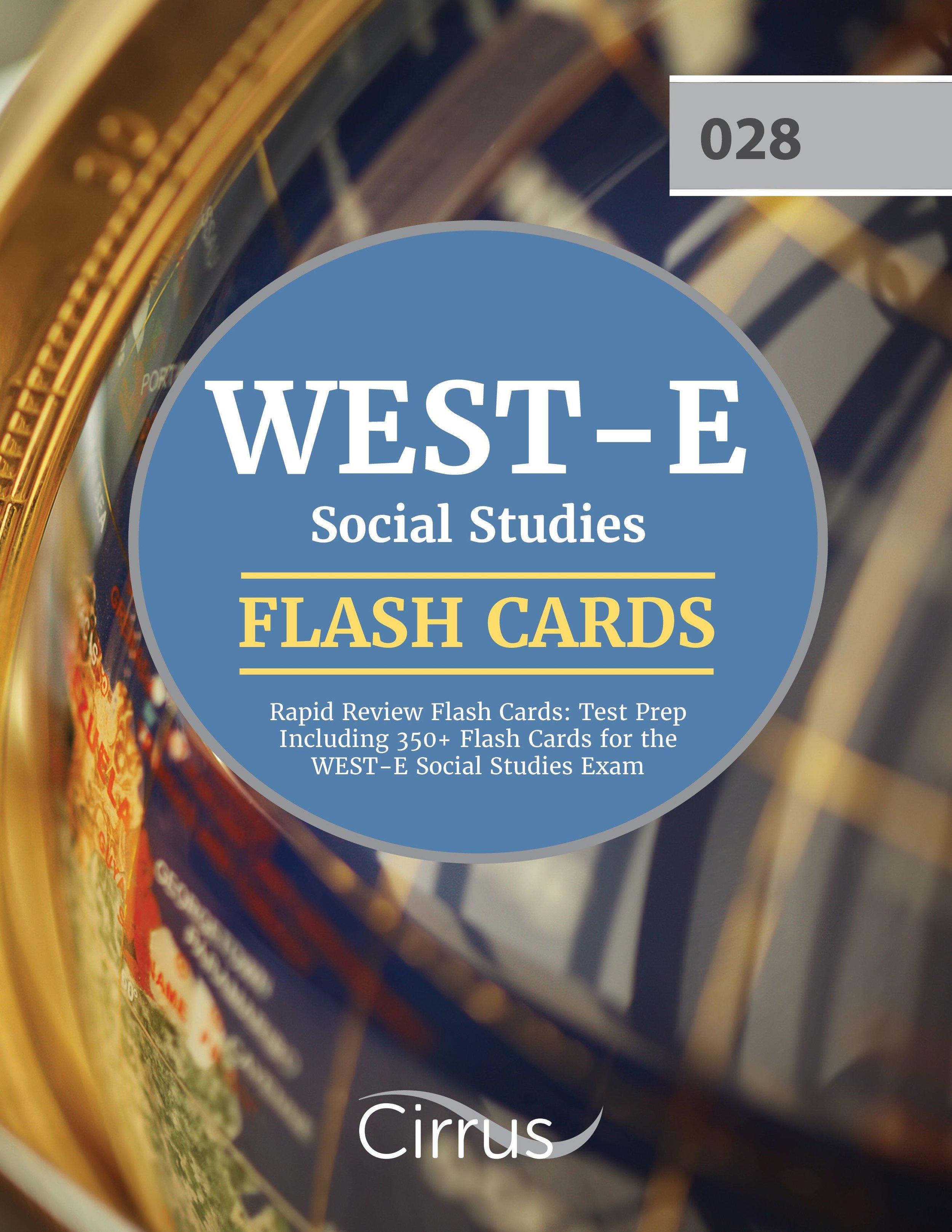 WEST-E Social Studies Rapid Review Flash Cards