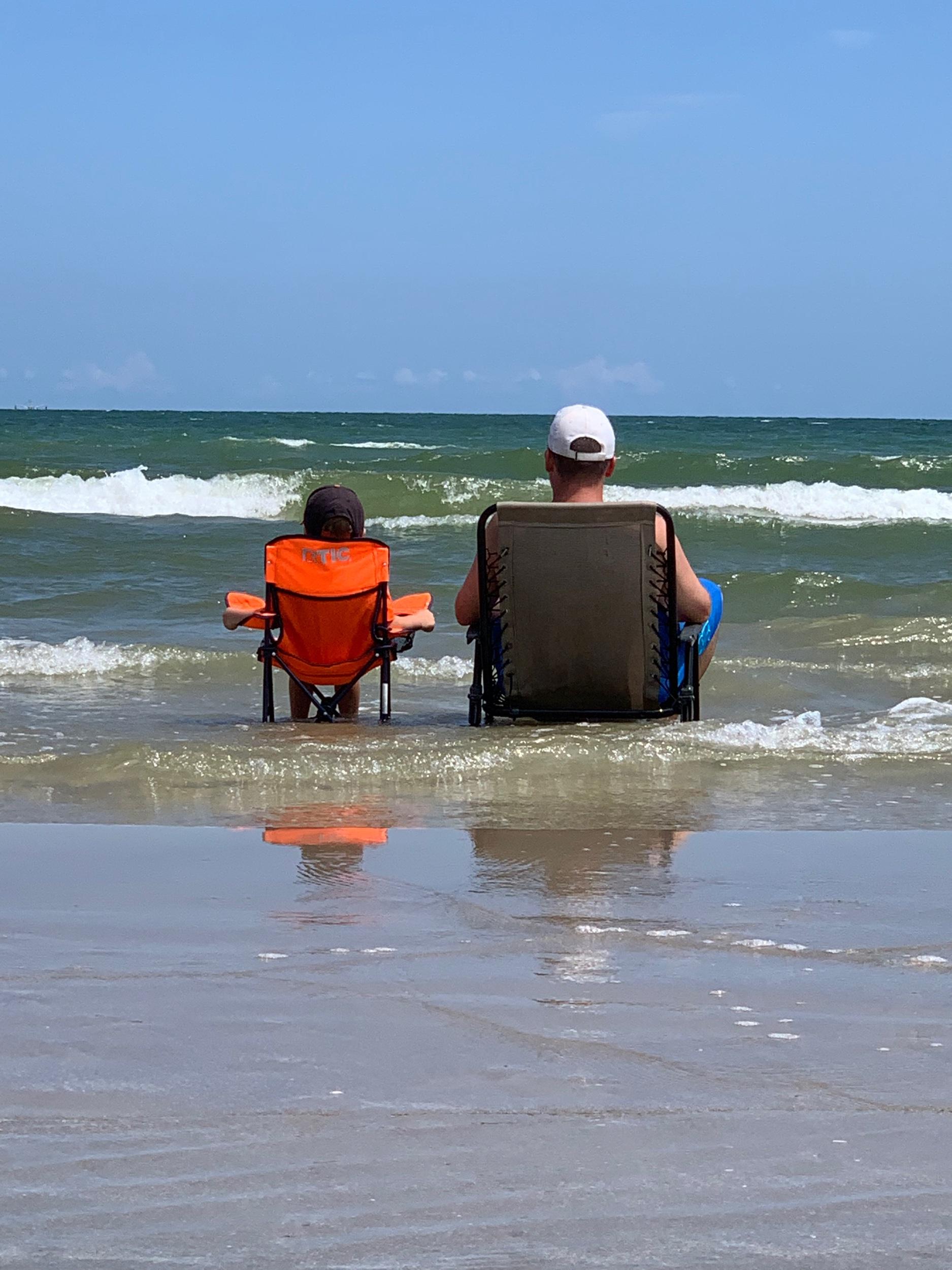 Ocean sitting.