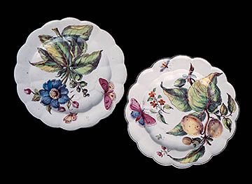 Inspiration Plates from Chelsea Factory ca.1775 in Permanent Collection at the High Museum of Art