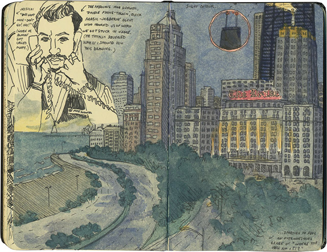 Travel Sketchbooks of Chandler O'Leary as She Explores the U.S.
