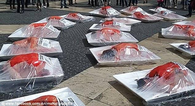 Human Meat Protestors