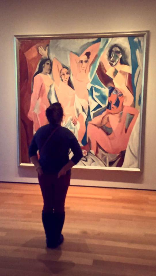 Myself in front of Les Demoiselles d'Avignon (The Young Ladies of Avignon, and originally titled The Brothel of Avignon)