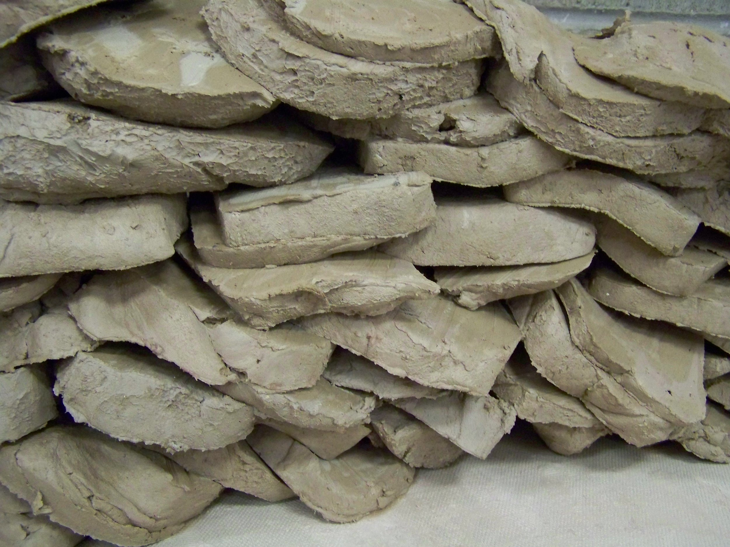 Wedging clay for handbuilding