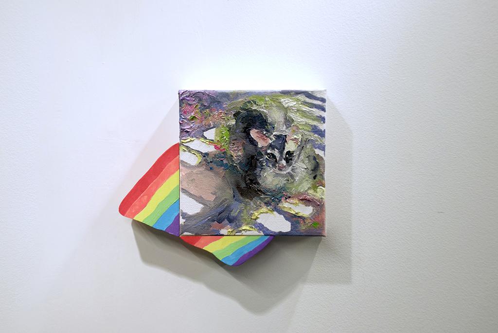 Lee, Nuni %22Rainbow Cat%22 Oil on canvas, plywood_8''x10''_2016.jpg